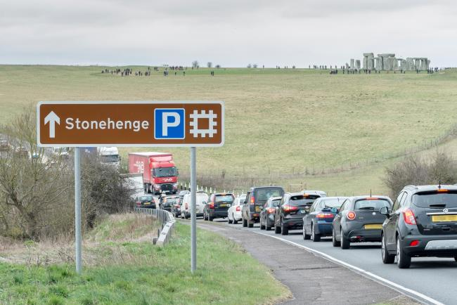 The A303 runs past Stonehenge