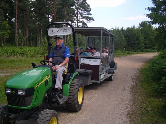 The Moors Valley tractor that was stolen