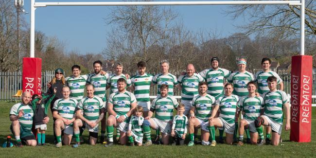 "Salisbury ""A"" before the semi-final of the Dorset & Wilts 3rd XV Cup against Trowbridge"