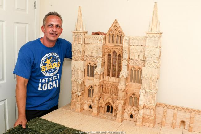 Salisbury Cathedral model by Barry King, picture by Spencer Mulholland