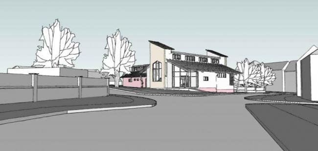 Proposed plans for new church and nursery building in Amesbury