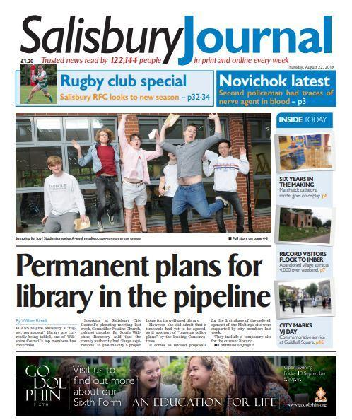 Salisbury Journal front 22/08/19