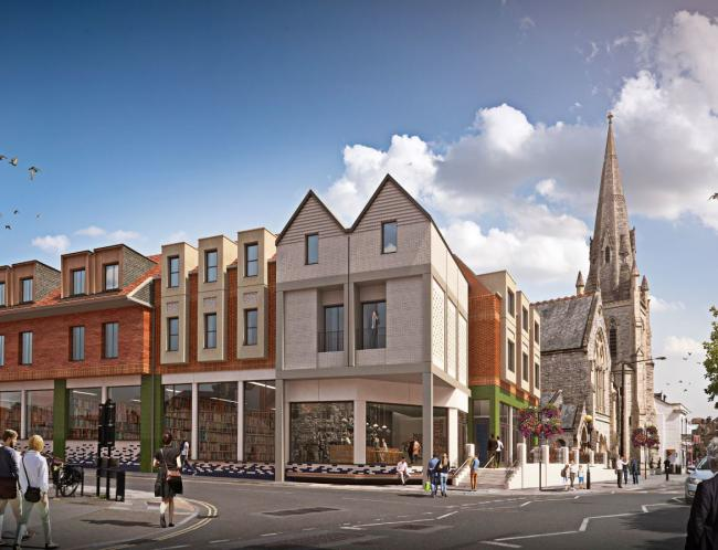Artistic impressions of the first phase of the redevelopment of the Maltings. For the site of the former British Heart Foundation store at 30-36 Fisherton Street. Picture: Haskoll