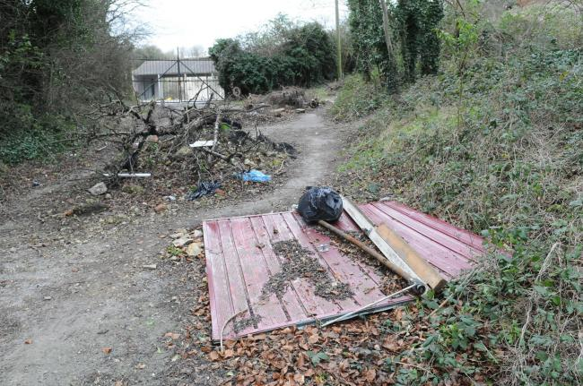 Old dairy, Britford..Fly tipping around Salisbury. DC7076P1..Picture by Tom Gregory.