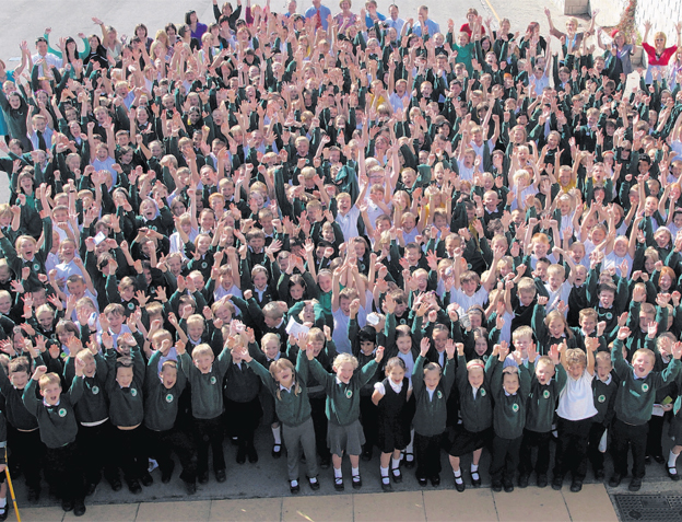 Celebrations as Ofsted gives school a glowing report