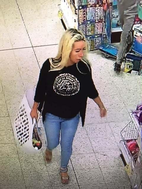 Woman Wiltshire Police wants to talk to after theft at Home Bargains
