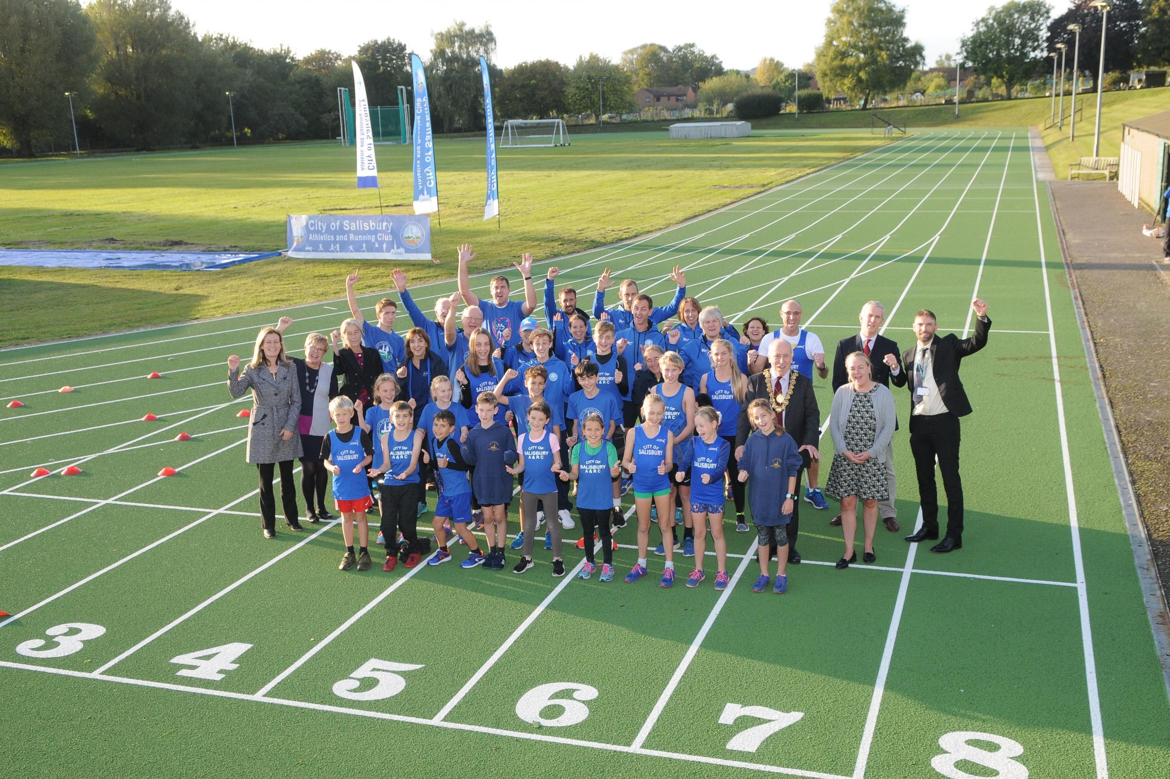 Salisbury Athletics Track, at South Wilts Grammar School, resurfacing works complete