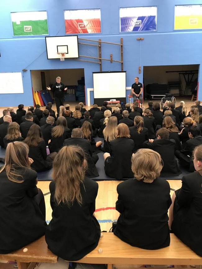 GB athlete Aaron pays visit to Burgate