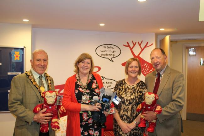 Pictured from left to right: Mayor of Salisbury John Walsh, Mayoress Carrie Walsh, Sue Nettle, and leader of Salisbury City Council Jeremy Nettle