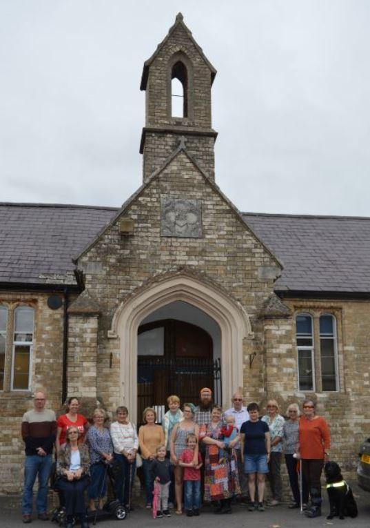 Users and supporters with trustees of Avonway Community Centre in Fordingbridge