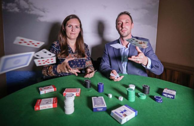 Henrietta Dunkley and Paul Kanolik, of Ellis Jones Solicitors, who have recovered more than £100,000 of a gambler's losses