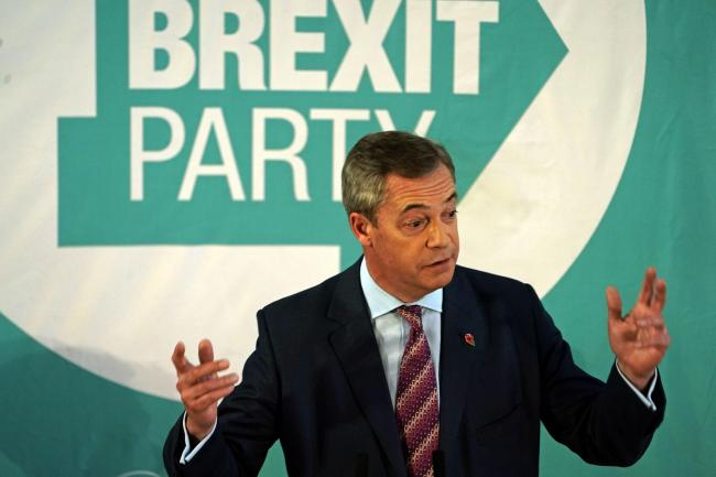Brexit Party will not fight seats won by Tories in 2017
