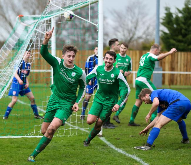 Chae Sykes reels away after scoring against Verwood.
