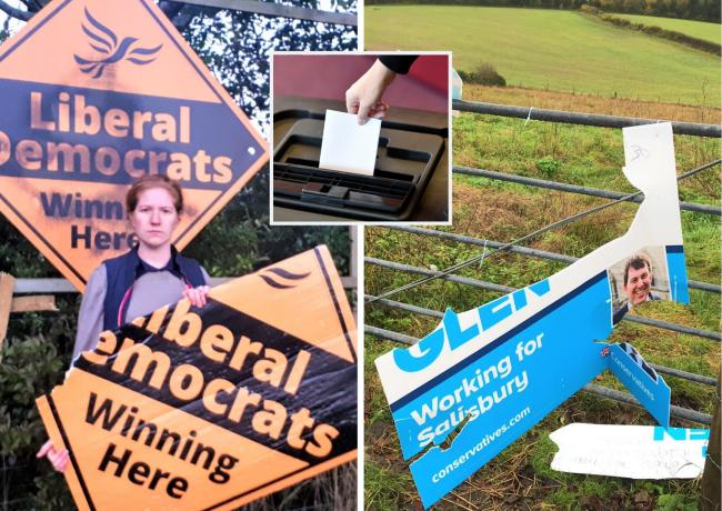 City candidates hit out as vandals damage election signs