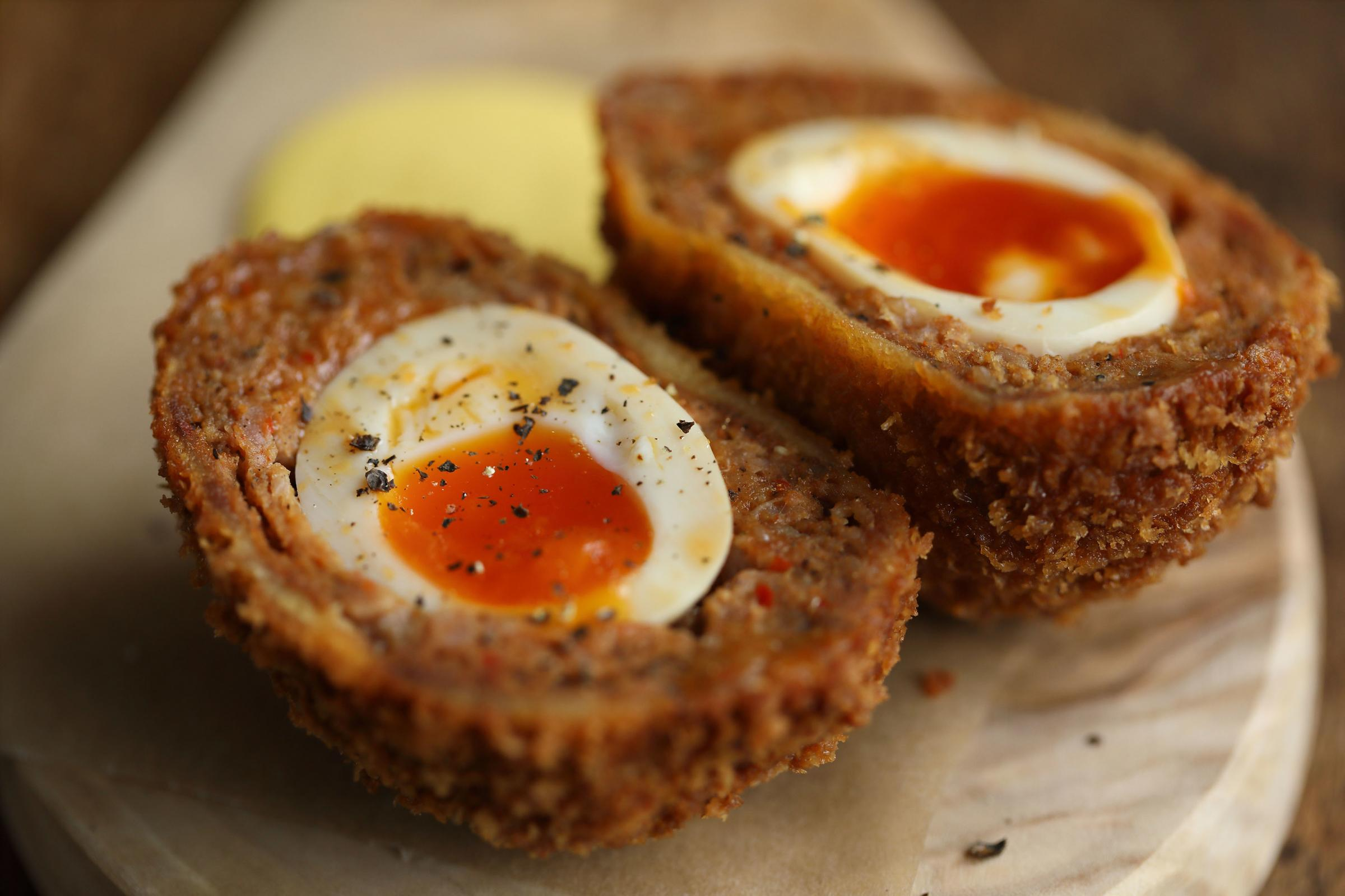 Scotch eggs at The Harcourt Arms.