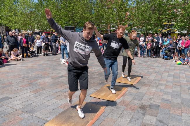 Old Kent Road tap dance display at the 2019 festival Picture Adrian Harris 