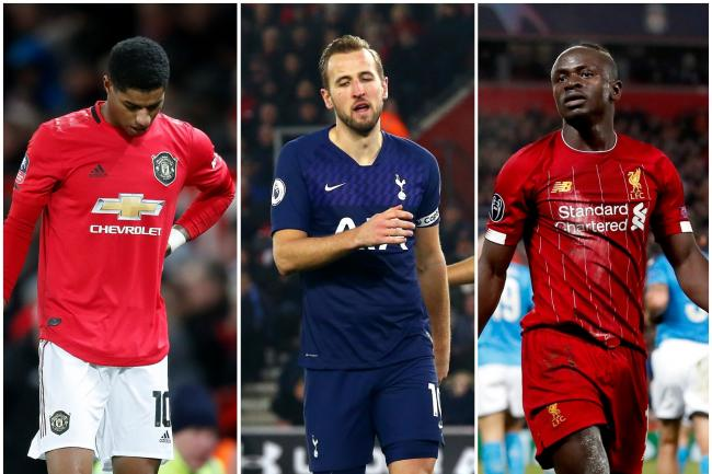 Marcus Rashford, Harry Kane and Sadio Mane are all sidelined by injury