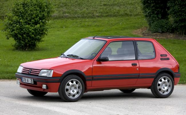 A peugeot 205 similar to the one targeted by thieves