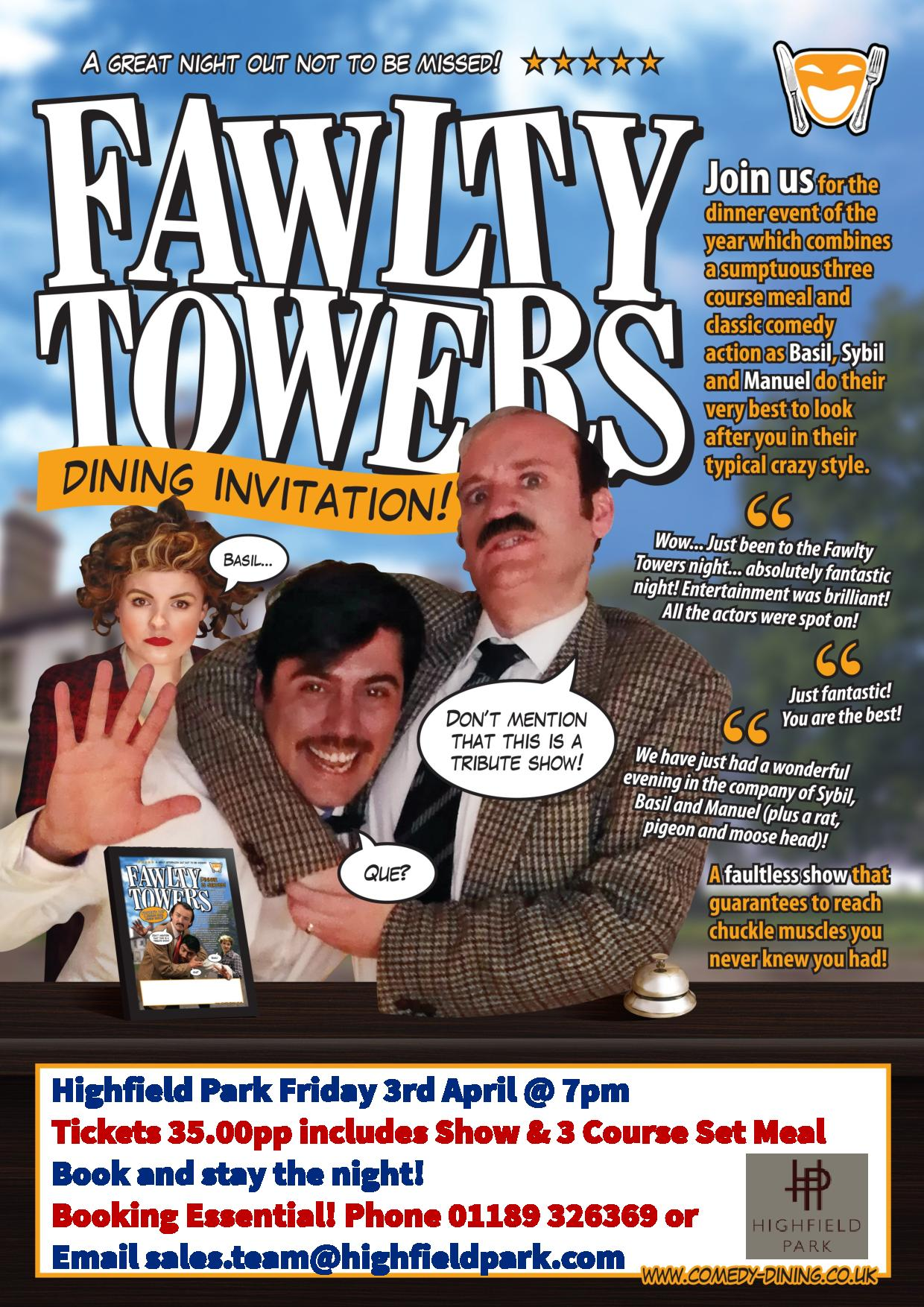 Fawlty Towers Comedy Dinner