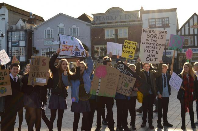 Youth Strike 4 Climate in Salisbury Market Square - November 2019
