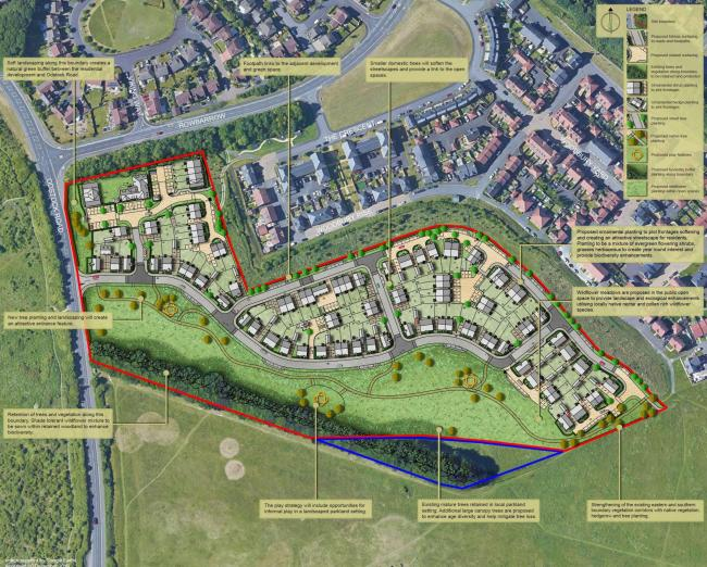 Plans for the Rowbarrow site. Picture: Bellway Homes