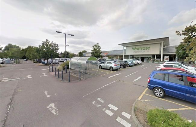 Waitrose car park. One of the places where Jason Green has had to park his car up at night