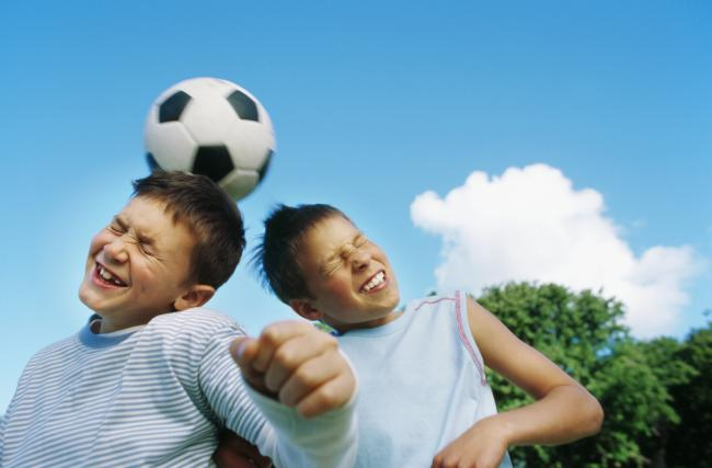 Primary school children banned from heading ball in football training. Credit: Getty