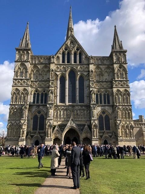 Celebration for students in Salisbury Cathedral for Honorary Bachelor of Education degrees
