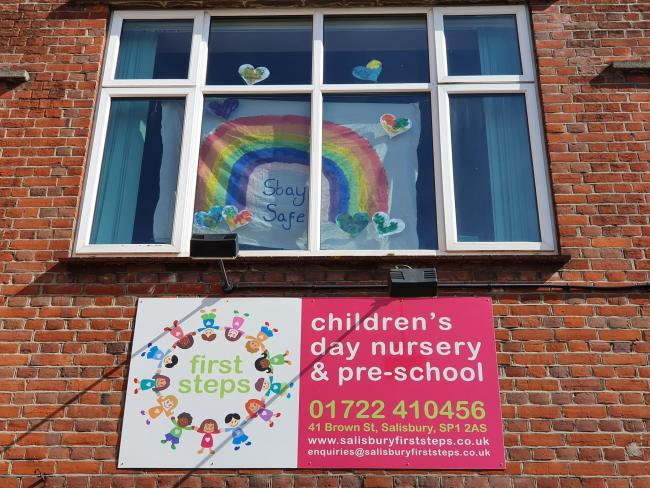 At First Steps Nursery in the heart of Salisbury, we have created a rainbow and hearts to help spread the positivity around our area. We are remaining open for key workers children and are having lots of fun for the children (and the staff).