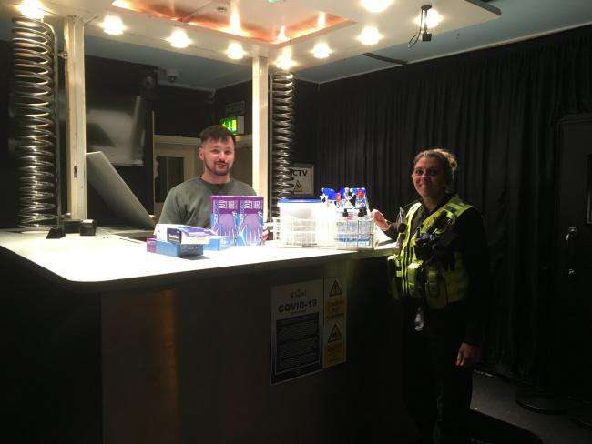 Wiltshire Police has thanked The Chapel Nightclub in Salisbury for their donation.