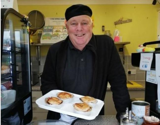 Nigel Davis, who scooped a bronze award for his chicken pies at the British Pie Awards 2020