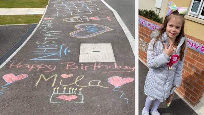 Estate's 'amazing' gesture to celebrate little girl's 7th birthday during lockdown