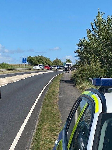 A temporary traffic order is now in effect on the A303 - Picture from Wilts Specialist Ops Twitter