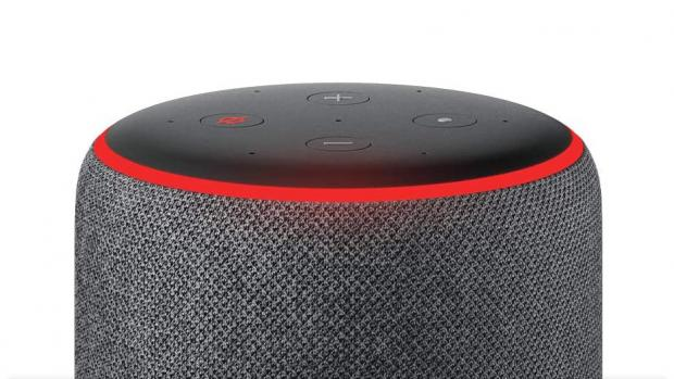 Salisbury Journal: A red light ring means the Echo's microphones are turned off, and Alexa can't hear your conversations. Credit: Amazon