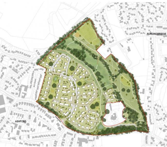 An outline planning application has been submitted for a development on land north to Station Road, Fordingbridge