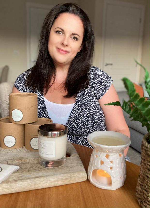 Salisbury Journal: Charlotte Langton with her hand poured wax melts