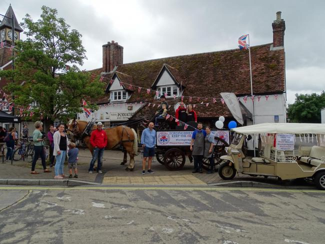 The launch of the Keep the Heart Beating campaign in Fordingbridge