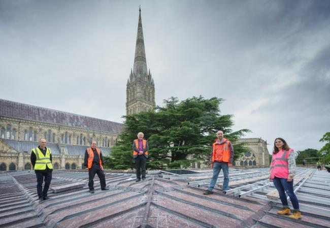Solar panels have been installed at Salisbury Cathedral   Picture by Ash Mills