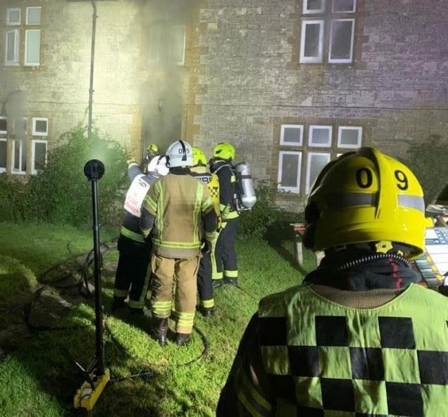 The fire broke out in the early hours    Picture: DORSET & WILTSHIRE FIRE AND RESCUE SERVICE