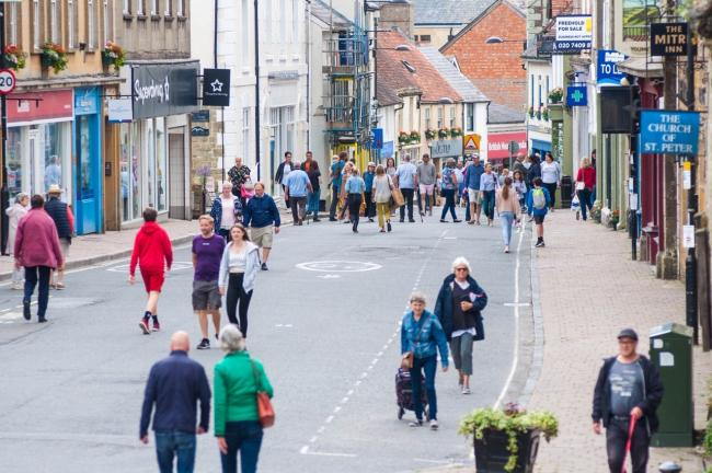 Shaftesbury high street - Picture from Shaftesbury and District Chamber of Commerce Facebook