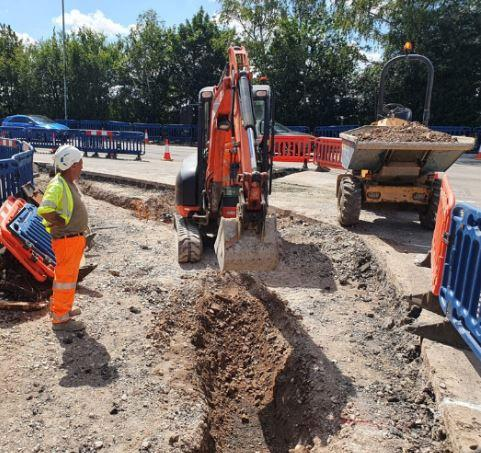 Works in Le Neubourg Way - Picture from Dorset Council website