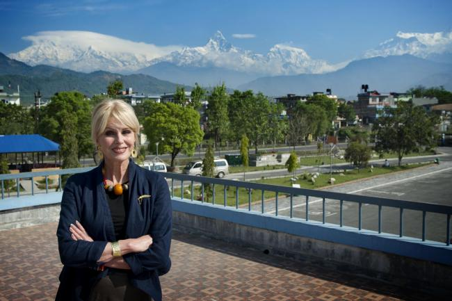 Joanna Lumley in Nepal Picture: The Gurkha Welfare Trust