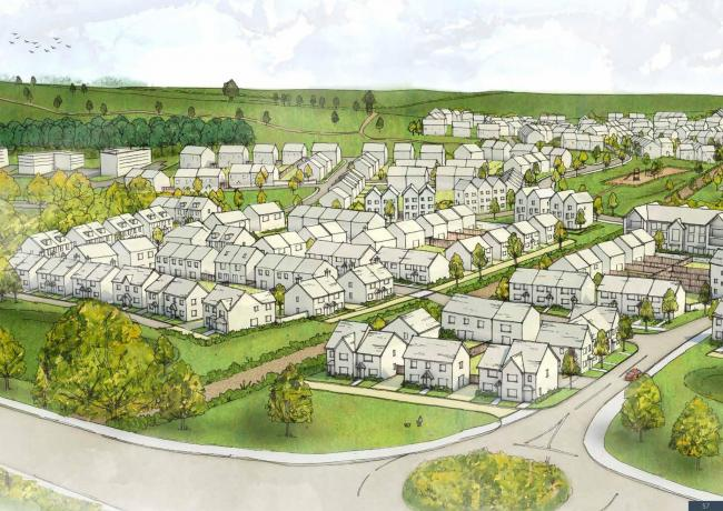 Netherhampton Road 640-home scheme. Artist's impression of the planned development.