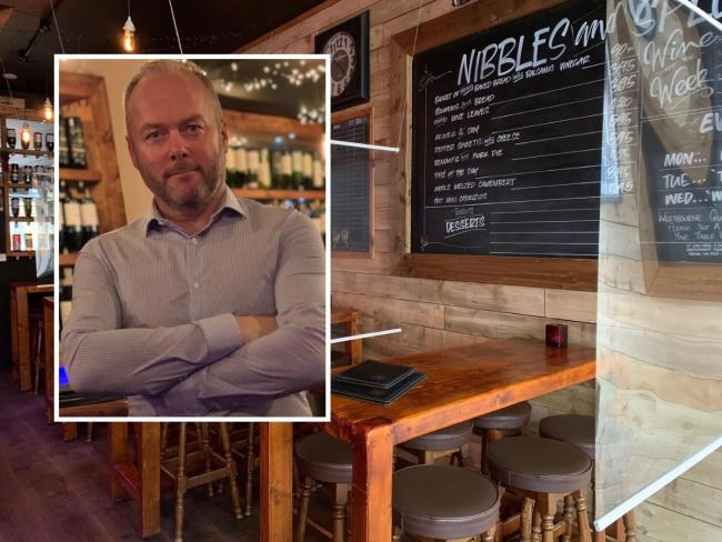 Trevor Ayling, inset, founder and CEO of Renoufs Cheese and Wine Bars