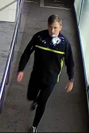 CCTV of a man police would like to speak to