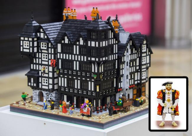 Tudor Lego model exhibition at Salisbury Museum
