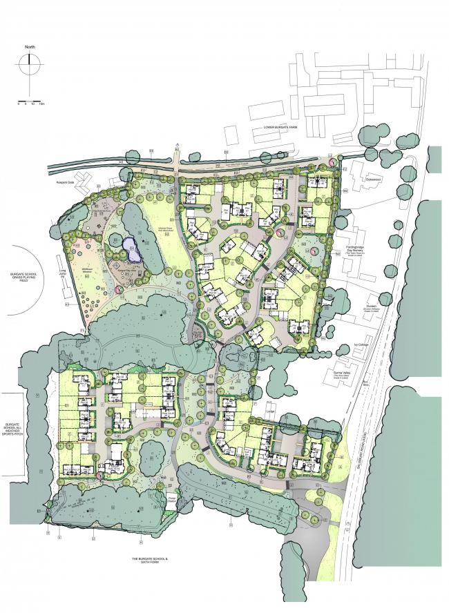 Plans for the development at Burgate Acres, Fordingbridge