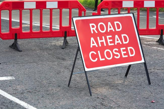 B3092 New Road to be closed for five nights [generic road works sign]