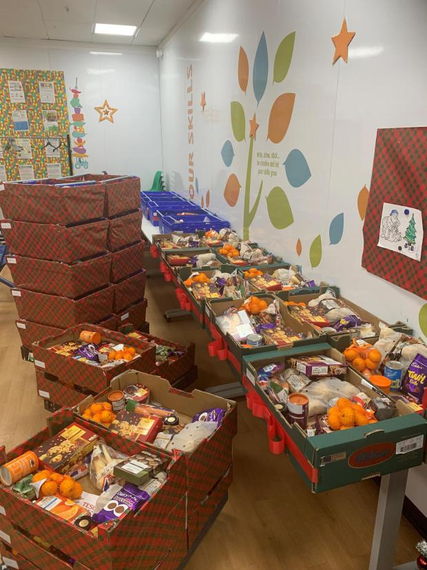 Salisbury Journal: The Christmas food hampers donated by Tesco stores in Salisbury
