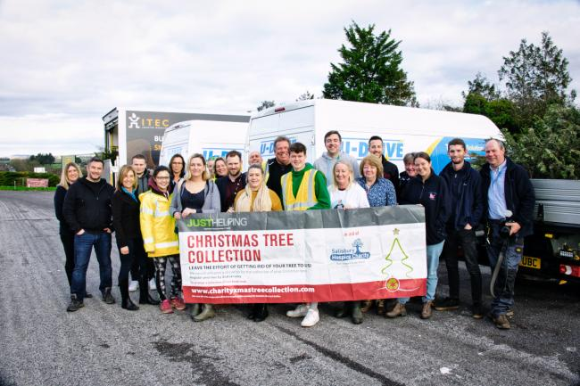 A previous Christmas tree recycling campaign for Salisbury Hospice Charity